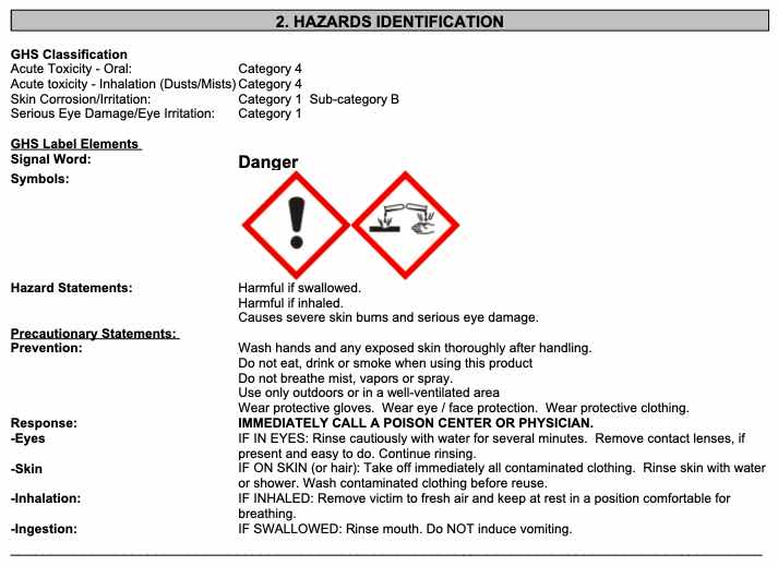company warning label for HDQ Neutral disinfectant, From InText