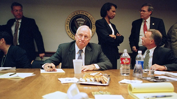 That left Vice President Cheney positioned in a bunker beneath the White House in the decision-making hot seat