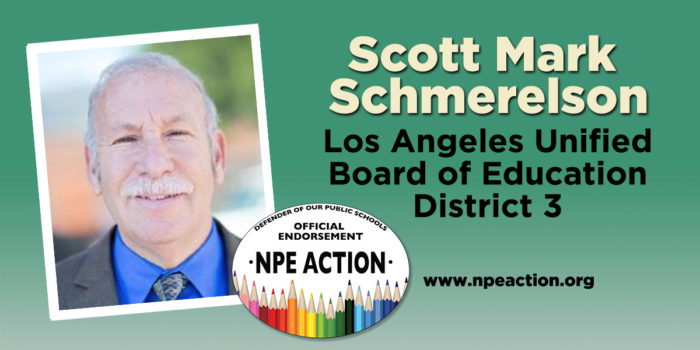 Scott Schmerelson's endorsement on the NPE Action web page.