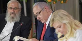 Israeli PM Netanyahu and his wife hosting Bible study.