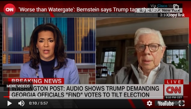 Carl Bernstein CNN interview re. GA phone call, From Uploaded