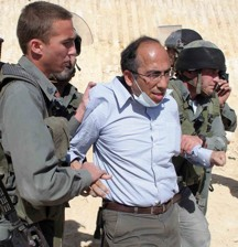Qumsiyeh being arrested in Al-Walaja 6 May 2010, From Uploaded