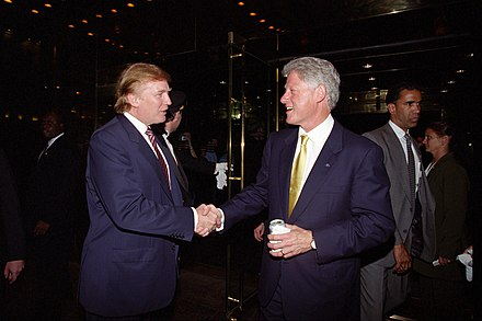 Bill Clinton with a somewhat younger Trump