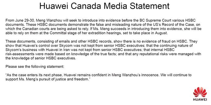 Huawei Canada tweet, From Uploaded