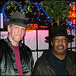 With the late immortal Magic Slim, 2007. Our duet was the title song on my Blues-Music-Award-winning CD, The Wheel Man